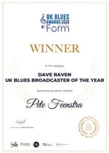Pete Feenstra - UK Blues Awards 2020
