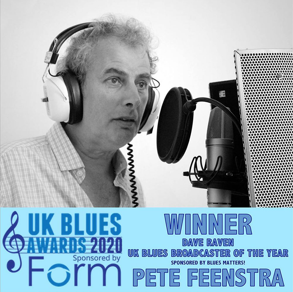 Pete Feenstra - Blues Broadcaster of the Year 2020